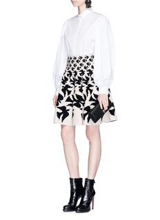 Alexander McQueen 'Swallow intarsia stretch knit skirt