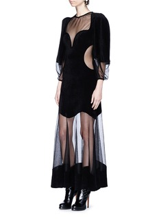 Alexander McQueen Balloon sleeve long knit dress