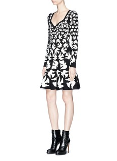 Alexander McQueen 'Swallow' intarsia stretch knit dress