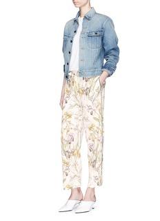 Alexander McQueen'Wild Iris' print silk pyjama pants