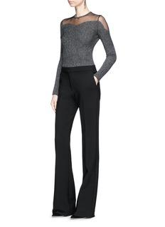 Alexander McQueen Sheer panel bouclé knit sweater