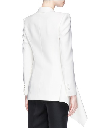 Back View - Click To Enlarge - Alexander McQueen - Drape side double breasted blazer