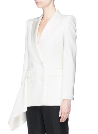 Front View - Click To Enlarge - Alexander McQueen - Drape side double breasted blazer