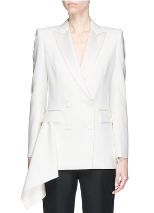 Main View - Click To Enlarge - Alexander McQueen - Drape side double breasted blazer