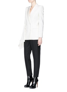 Alexander McQueen Drape side double breasted blazer