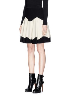 Alexander McQueen Textured stretch knit skirt