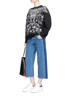 Alexander McQueen Falcon and floral embroidered sweatshirt