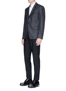 Alexander McQueen Satin piping wool flannel blazer