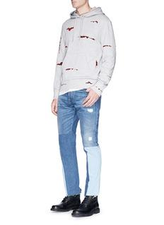 Alexander McQueen Velvet patch hoodie