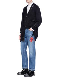 Alexander McQueenDistressed mohair-silk cardigan