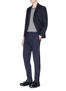 Alexander McQueen Velvet outseam crepe jogging pants