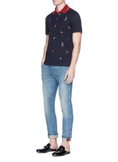 GucciIcon embroidered polo shirt
