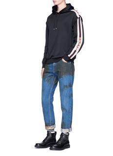GucciLogo trim detachable sleeve hoodie