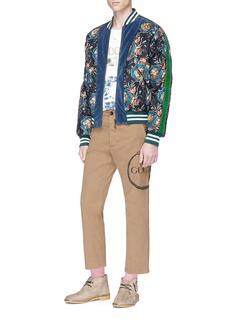 Gucci 'Grotesque Garden' print silk twill bomber jacket