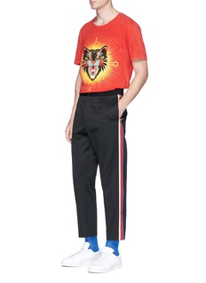 Gucci Web outseam drill jogging pants