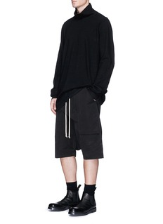 Rick Owens DRKSHDW Front flap dropped crotch shorts