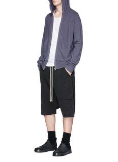 Rick Owens DRKSHDW Cotton jersey zip hoodie