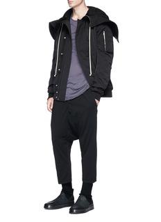 Rick Owens DRKSHDW Hooded bomber jacket
