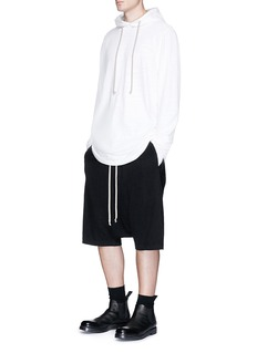 Rick Owens DRKSHDW 'Pods' cotton jersey dropped crotch shorts