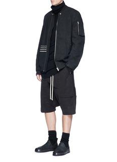 Rick Owens DRKSHDW Twill bomber jacket
