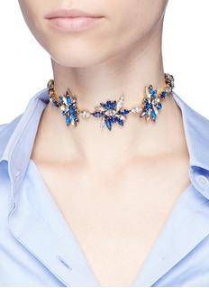 Erickson Beamon 'Silver Screen' Swarovski crystal ribbon choker necklace