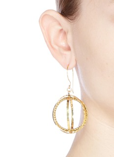 Erickson Beamon 'Third Dimension' Swarovski crystal sphere drop earrings
