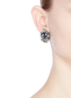 Erickson Beamon 'Moody Blues' Swarovski crystal stud earrings