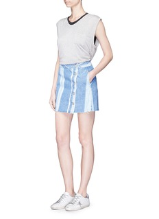 3x1 'Higher Ground' stripe denim skirt