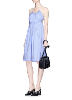 3.1 Phillip Lim Gathered halterneck cotton dress