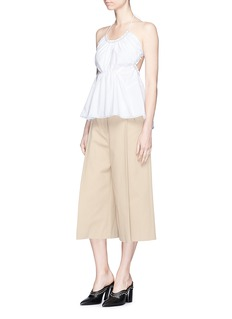 3.1 Phillip Lim Gathered halterneck cotton top