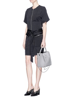 3.1 Phillip Lim Zip pocket open back utility cargo rompers