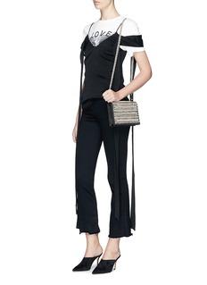 RODO Embellished satin shoulder bag
