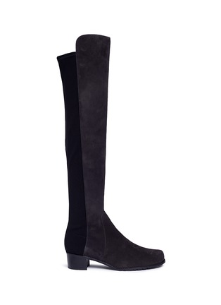 Main View - Click To Enlarge - Stuart Weitzman - 'Reserve' stretch suede knee high boots