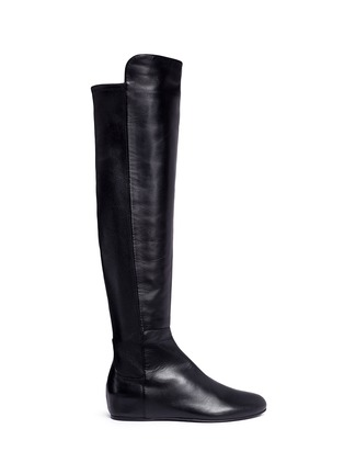 Main View - Click To Enlarge - Stuart Weitzman - 'All Day' concealed wedge leather thigh high boots