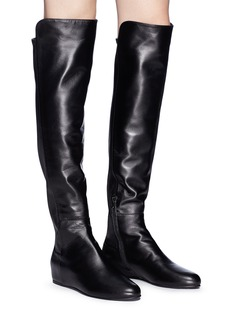 Stuart Weitzman 'All Day' concealed wedge leather thigh high boots