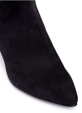 Detail View - Click To Enlarge - Stuart Weitzman - 'Allways' stretch suede knee high boots