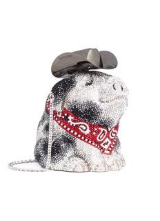 Judith Leiber 'Hank Cowboy Pig' crystal pavé minaudière