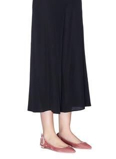 Aquazzura 'Forever Marilyn' tassel bow velvet flats