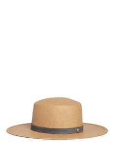 Janessa Leone'Alaia' suede band packable straw bolero hat