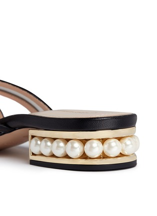 Detail View - Click To Enlarge - Nicholas Kirkwood - 'Casati' faux pearl heel leather sandals