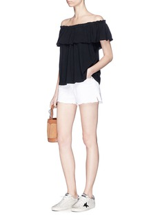 Current/Elliott 'The Ruffle' off-shoulder jersey top