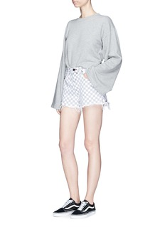 Alexander Wang  'Bite' checkerboard print denim shorts