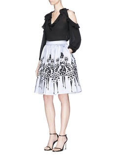 alice + olivia 'Fanny' Stacey print gathered skirt