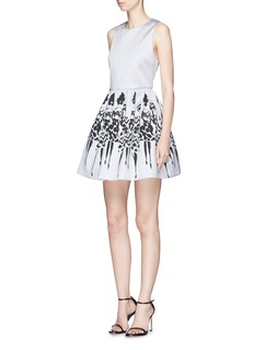 alice + olivia 'Joyce' Stacey print part dress
