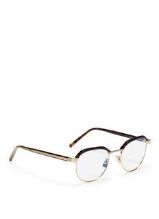 Saint LaurentTortoiseshell effect brow bar metal optical glasses
