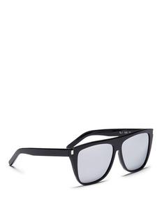 Saint LaurentOversized D-frame mirror sunglasses