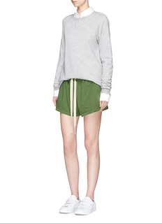 bassike 'Beach Short III' drawstring twill shorts