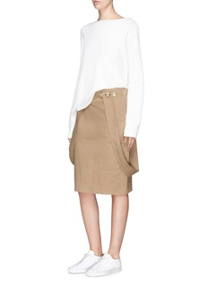 bassike Attached strap cotton drill skirt