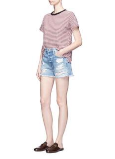 Frame Denim'Le Original' ripped denim shorts
