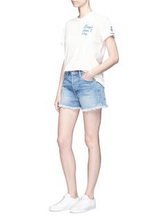 Frame Denim'Le Original' frayed denim shorts